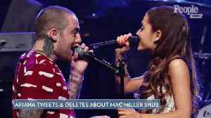 Ariana Grande Tweets & Deletes Angry Messages as Mac Miller Loses Grammy: 'Literal Bulls-' [Video]