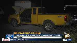 Truck leads CHP on pursuit before crash in La Mesa [Video]