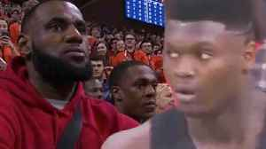 Zion Williamson Has Hilarious Reaction To Lebron James Showing Up To His Duke Vs UVA Game! [Video]
