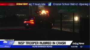 WSP trooper's car hit on I-90, one transported with non life-threatening injuries [Video]