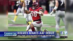 Eagle Point's Tyrone Holmes Debuts with San Antonio Commanders [Video]