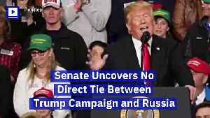 Senate Uncovers No Direct Tie Between Trump Campaign and Russia [Video]