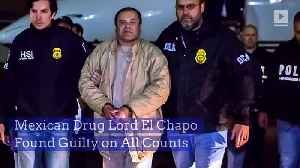Mexican Drug Lord El Chapo Found Guilty on All Counts [Video]