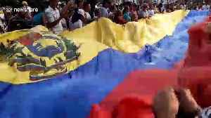 Protests sweep Colombian border city holding aid to Venezuela [Video]