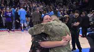Soldier Surprises Mom with Reunion During Sacramento Kings Game [Video]