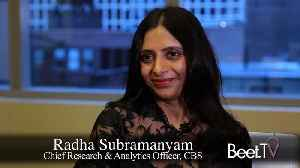 "CBS Wants Data to ""Speak to Each Other,"" Research Head Subramanyam [Video]"