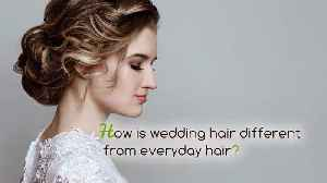 A Pro Hairstylist's Advice for Your Prettiest Wedding Hair [Video]
