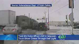 A Close Call For A Police Officer In Wisconsin After Terrifying Crash [Video]