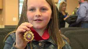 Eight-Year-Old Girl Awarded for Saving Dad`s Life During Shooting Spree [Video]