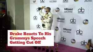 News video: Why Was Drake's Grammy Speech Really Cut Off