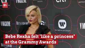 Bebe Rexha Enjoyed A Princess Moment At The Grammys [Video]
