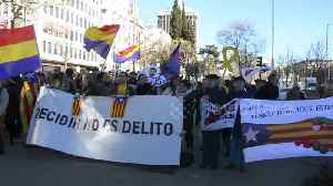 Catalan separatists go on trial amid protests in Madrid [Video]