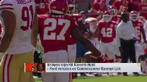 Nate Burleson on Cleveland Browns running back Kareem Hunt: Give him time to 'make up for his mistakes' [Video]
