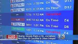 Weather Grounds Flights At PHL International Airport [Video]