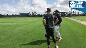 News video: Garth Brooks in spring training with Pittsburgh Pirates | Digital Extra