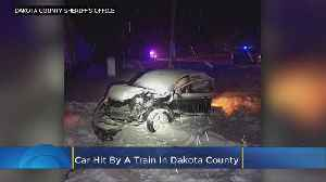 Stuck Vehicle Struck By Train In Dakota County [Video]