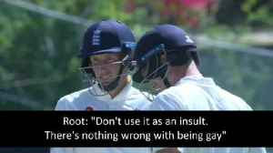 Joe Root praised for gay comments in England test match [Video]