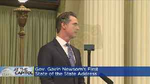 Gov. Newsom Touches On Transportation, Water, Senior Care Issues In State Of The State [Video]