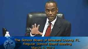 Broward School Board rejects safety money during 2013 meeting [Video]