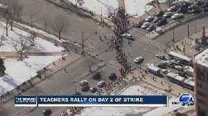 Denver teachers march to Civic Center Park on Day 2 of teachers strike [Video]