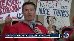 Denver teachers, supporters speak at Civic Center Park on Day 2 of Denver teacher strike [Video]