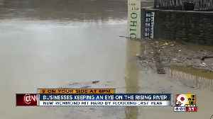 News video: Businesses keeping an eye on rising river