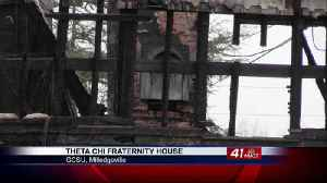 Fire at Theta Chi frat house, Near Georgia College campus [Video]
