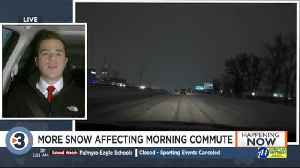Many schools take the day off as snow accumulates [Video]