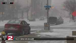 News video: Snow is falling as winter storm moves into the Mohawk Valley