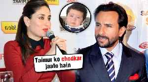 Kareena Kapoor Wants A ROMANTIC Date With Saif Ali Khan WITHOUT Son Taimur Ali Khan [Video]