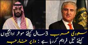 Saudi Arabia have provided oil on 3 years deffered payment, says Shah Mahmood Qureshi [Video]