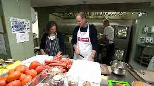 Prince William serves food at homeless charity The Passage [Video]