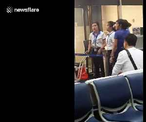 Furious Thai airport worker yells at tourist in row over hand luggage allowance [Video]