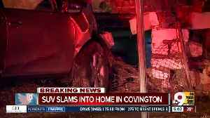 Driver crashes into Covington home [Video]