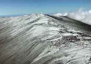 Aerial Footage Shows Snow-Covered Haleakala Peak [Video]
