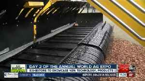 Day two of the Annual World Ag Expo: OXBO Hay Merger [Video]