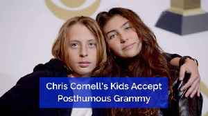 They Accept Their Dads Posthumous Grammy [Video]