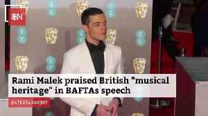 Rami Malek Recognized British Music Contribution At BAFTA's [Video]