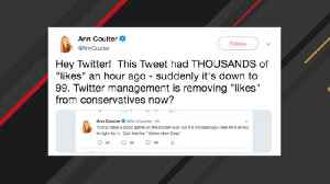 Ann Coulter Says Twitter Removed 'Likes' From Her Trump Tweet [Video]