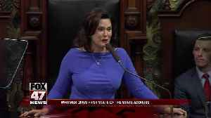 Whitmer says roads, education in crisis; touts tuition plan [Video]
