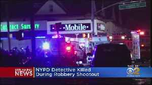 News video: NYPD Detective Killed In Queens Robbery