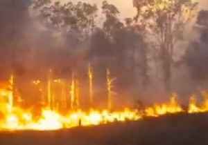 Firefighters Battle Out-Of-Control Blaze in Tabulam, New South Wales [Video]
