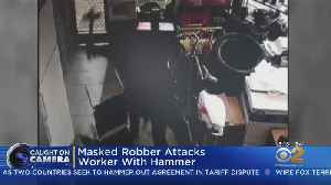 Masked Robber Attacks Gas Station Worker [Video]