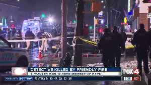 News video: New York detective killed in friendly fire incident, commissioner says