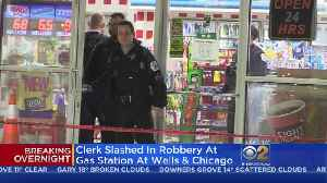 Clerk Slashed In River North Robbery [Video]