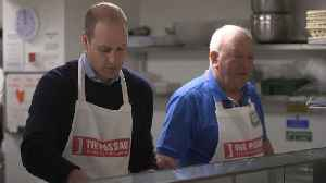 Prince William serves food at homeless charity [Video]