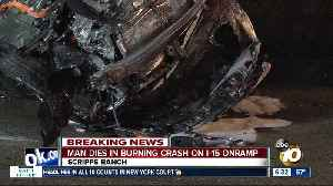Witnesses unable to save driver after fiery wreck [Video]