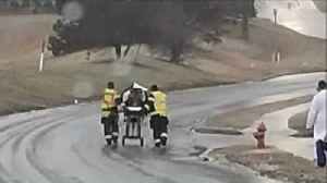 Paramedics Push Patient Nearly a Mile on Icy Streets After Ambulance Gets Stuck [Video]