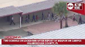 Action Air 1: Two Hillsborough Co. schools on lockdown after report of weapon on campus [Video]