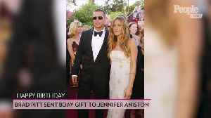 Brad Pitt Sent Jennifer Aniston a Gift Before Her 50th Birthday Party: Source [Video]